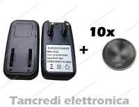 Caricabatteria lir2032 lir2025 con 10 batterie lir 2025 coin battery charger