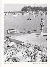 "*Postcard-""Old Boat Ramp"" /Car Inside Water/ *Michigan City Marinas (A317)"