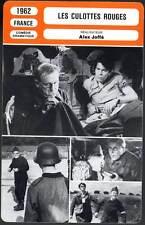LES CULOTTES ROUGES - Bourvil,Terzieff,Joffé (Fiche Cinéma) 1962 - Red Culottes
