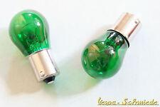 1x Ampoule 12v/21w-ba15s-vert-poire ampoule 12 volts 21 watts v w px