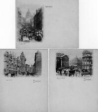 London set of 6 Early Court Size old postcards unused Vignette cards
