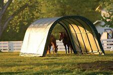12x20x10 Round ShelterLogic Horse Run in Shed Animal Shelter Garage barn 51351