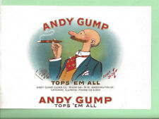 Very Rare Andy Gump Tops 'Em All Sidney Smith Chicago Illinois Inner Label