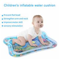 Kinder Wassermatte Baby Kleinkinder aufblasbare nasse Matratze Spiel Kissen Y3D8