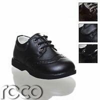 Baby Boys Black Brogue Shoes, Boys Shoes, Lace Up Shoes, Boys Formal Shoes
