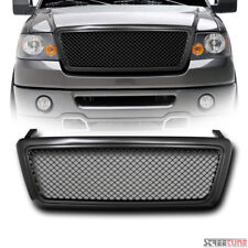 Matte Blk Bentley Mesh Front Hood Bumper Grill Grille Replacement Kit 04-08 F150