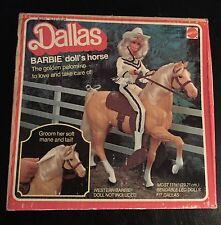 Dallas Barbie Doll Horse Tan Brown Golden Palomino Mattel Saddle Reins Stirrups