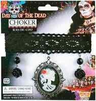 Day Dead Choker Necklace Dia Muertos Fancy Dress Halloween Costume Accessory