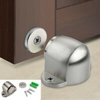 Home Stainless Steel Magnetic Floor Mount Hidden Door Stop Stopper Catch Holder