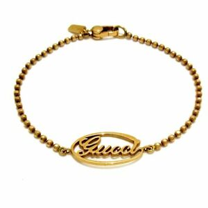 Auth GUCCI 18K Rose Gold Bracelet