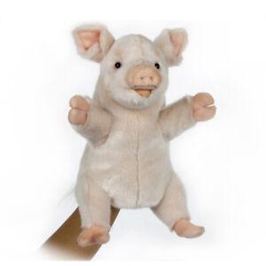 HANSA FARM PIG PUPPET REALISTIC CUTE SOFT ANIMAL PLUSH TOY 25cm **NEW**