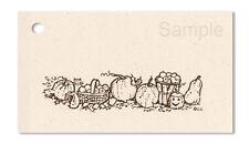 50 Lg Hang Tags *Autumn Bounty* Ecru Brown Kitchen Gourmet Price Tags Kimmeric