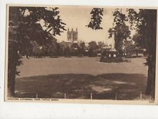 Hereford Cathedral From Castle Green Vintage Postcard 584a