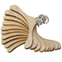 10 Pieces Cintre en bois pour poupees BJD 1/4 Porte-manteaux de poupees Minia 1X