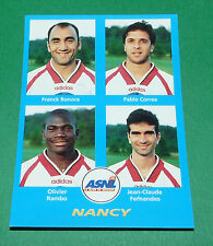 N°401 BONORA CORREA RAMBO FERNANDES NANCY D2 PANINI FOOT 96  FOOTBALL 1995-1996