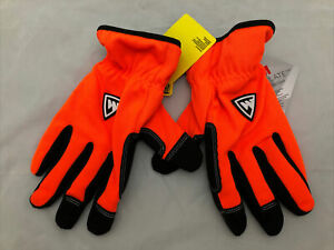 West Chester Dirty Work Warm Hunter Orange Black Thinsulate Gloves Hunting 2XL