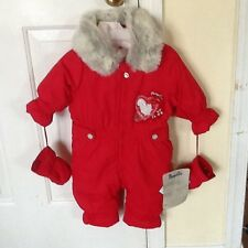 """PAMPOLINA EUROPEAN CO. $98. INFANT 6-9 MOS RED """"LUCKY WORLD"""" BUNTING/SNOWSUIT NW"""