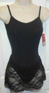 NWT Capezio Ballet dress Lace Skirted Leotard Black #10313 Ladies Sizes Lowback
