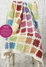 Crochet Pattern - Sweet Rainbow Coloured Granny Square Blanket (100x100cm - 0879
