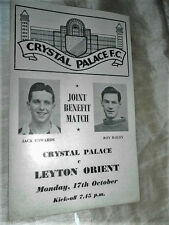 1955 Crystal Palace V Orient-Edwards Bailey beneficio
