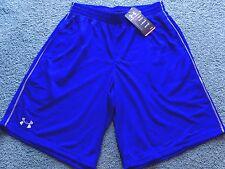 NWT Mens Under Armour M Royal Blue/Gray Stripe Flex Shorts Mediium