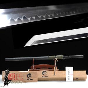 Sharp Japanese Katana 1095 Carbon Steel Clay Tempered Ninja Sword Real Hamon