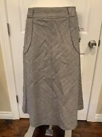 Adec 2 by Philippe Adec Brown Herringbone A-Line Skirt, Size 8 (US), 42 (IT) NWT