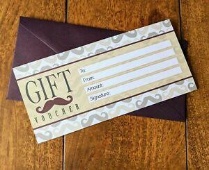 Blank  Gift Voucher Certificate Generic Gift Card Luxury Plum Envelope For Men