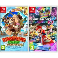 Mario Kart 8 Deluxe and Donkey Kong Video Games for Nintendo Switch