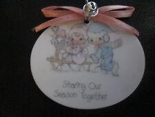 Precious Moments*Porcelain Ornament*Sharing Our Season Together*1988*Enesco*Nob*