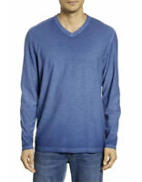 Tommy Bahama Men's Cirrus Coast V-Neck Dockside Blue Long Sleeve Shirt 2XLB $94
