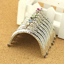 DIY 7pcs 8.5cm Include All Color Silver coins Bags Purse Metal Frame Kiss Clasp