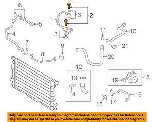 AUDI OEM 10-17 A5 Quattro 2.0L-L4 Cooling-Inlet Tube Bolt 06A145541J
