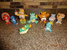 Vintage Lot of 9 Care Bear Figure Figurines Tenderheart/Wish/Birthday/Grump/Gram