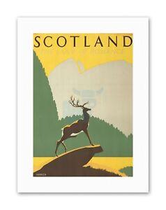 SCOTLAND STAG ANCHOR HIGHLANDS Travel Sport Canvas art Prints