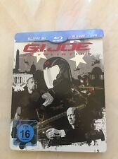 Blu-ray DVD G.I. Joe Retaliation Limited Edition Steelbook ( 3D+ Blu-ray+ DVD)