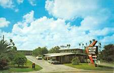 Pharr Texas Pen Ann Motor Hotel Street View Vintage Postcard K24884