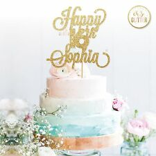 16th Name Cake Topper,16 Topper, Custom Personalised Cake Topper 18 21 30 50