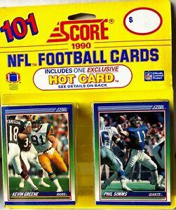 1990 Score NFL 101 Card Set Includes 1 HOT Card - Seau Montana Rice Monk & Elway