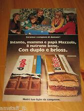 DUPLO BRIOSS FERRERO CON SANDRO MAZZOLA INTER=ANNO 1974=PUBBLICITA=ADVERTISING=