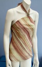 Party Blouses Striped Sleeveless Tops & Shirts for Women