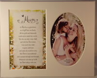 Mum Keepsake Photo Frame Mount to take 6 x 4 inch photo 20.25cm x 25.5cm