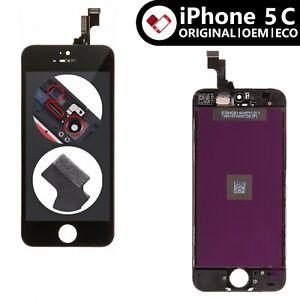 iPhone 5C Display Schwarz OEM ORIGINAL Retina Bildschirm Touch Screen Glas Front