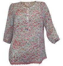 Damen-Blusen Damenblusen, - tops & -shirts mit Rundhals-Ausschnitt aus Chiffon