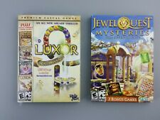 Lot of 2 PC Game Discs Luxor (5 Games) Jewel Quest (3 Games)