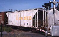 AMAZO? GACX Railroad Freight Train Hopper Crossing Original Photo Slide