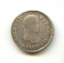 GUATEMALA FERDINAND VII (1813-1833) 1/2 RÉAL ARGENT 1813 NG M