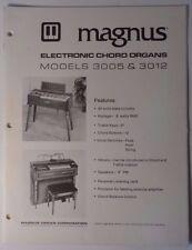 Original Magnus Electronic Chord Organs 3005 3012 Service Manual