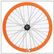 Fw668Or Origin8 Track Attack 42mm Wheelset Fixed Loose Ball Orange 700c 32h F&R