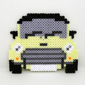 MINI car handmade Hama beaded medium coaster - YOU CHOOSE COLOUR custom pattern
